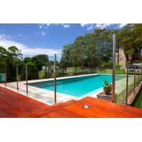Buy cheap Clear Flat 8mm 10mm Semi Frameless Pool Fence Glass Balcony Railings from wholesalers