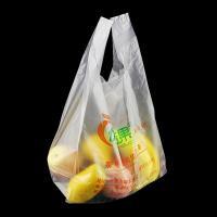 Buy cheap Factory Wholesale Vest Shopping Degradable Plastic Bag, white colour, HDPE product