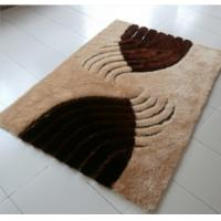 Buy cheap New Leather under Mixed with Polyester Silk Shaggy Carpet and Rug from wholesalers