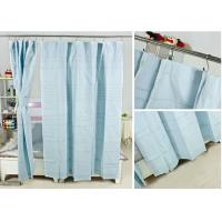 Buy cheap Ruffled Blackout Modern Window Curtains Light Blue Color 100% Cotton Country Style from wholesalers