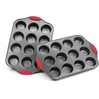 Buy cheap Professional manufacturer Nonstick Muffin Pan with Silicone Handles Cupcake Maker 2 Pans from wholesalers