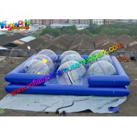 Buy cheap Heat Sealed Durable Cube Inflatable Water Pools For Water Ball Games from wholesalers