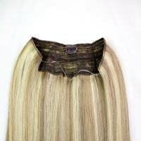 Buy cheap Highlighted Color Clip In Hair Extensions Remy Human Hair With Silky Straight from wholesalers