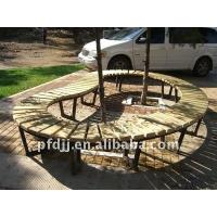 Buy cheap Light Brown Rough Sawn Lumber PVC Coated For Arches , Arbours , Pergolas PFDFP 03 from wholesalers