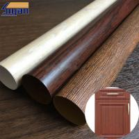 Vacuum Membrane Press High Gloss PVC Sheet For Doors / Wood Texture Pattern