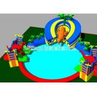 Buy cheap Mobile Large Inflatable Water Park With Swimming Pool 25M Dinosaur from wholesalers