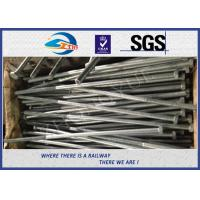 Buy cheap Hot Dip ZincDIN933 Railway Structural Bolt 24x900mm 45# With Nut from wholesalers