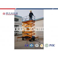 Buy cheap Semi - Automatic Hydraulic Scissor Platform Lift / Mobile Hydraulic Lift Table from wholesalers
