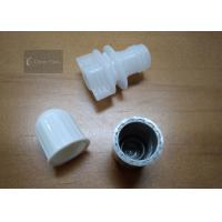 Buy cheap Outer Dia 14mm Plastic Spout Cap White Color For Stand Up Pouch , Non - Toxic product