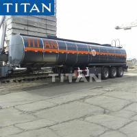 Buy cheap TITAN heating bitumen asphalt tanker trailer with insulating layer for sale from wholesalers