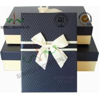 Buy cheap Recycled Multi Colored Retails Handcrafted Gift Boxes Ribbon Bow Decorated Packaging from wholesalers