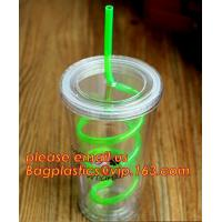 Buy cheap Colorful neon flexible disposable plastic drinking straw,Colorful Cocktail Paper Plastic Drinking Straw bagplastics pac from wholesalers