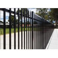 Buy cheap Commercial Galvanized Security Steel Fence Panels Tubular Coated POWDER 2 rails 3 rails 4 rails available from wholesalers