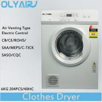 Buy cheap OlyAir air vented clothes dryer 6Kg electric control OZ60-16EW Australia standard from wholesalers