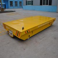 Buy cheap 10t load capacity steel railroad  trolley running on straight railway from wholesalers