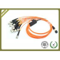 Buy cheap Orange Color Optical Fiber Jumper 12 Core 0.10dB Reability For Medical Sensing System product