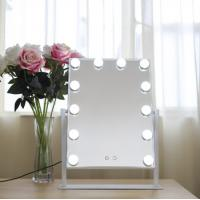 Buy cheap Large Desktop Square Led MakeUp Mirror For Dressing Led Light Bulb Mirror from wholesalers