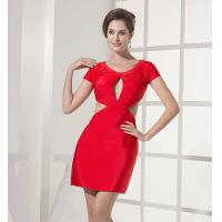 Buy cheap Polyester Clubwear Hollow Out Bodycon Sexy Red Modest Casual Dresses Couture from wholesalers
