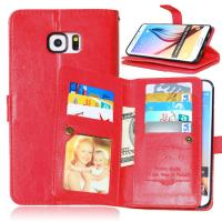Buy cheap Samsung Galaxy S4 S5 S6 S7 Edge+ Wallet Case Leather Cover Bags Pouch 9 Cards Slot Holder from wholesalers