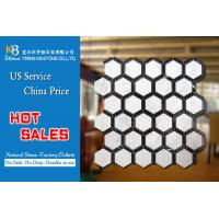 Buy cheap Italian carrara white marble stone natural hexagonal marble mosiac floor tiles from wholesalers