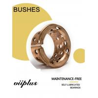Buy cheap Oilless Self Lubricating Plain Bearing Bronze Sleeve Bearings 090 & 092 with holes for Mining machinery from wholesalers