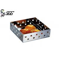 Buy cheap Square Shaped Restaurant Bread Baskets 304 Stainless Steel Tableware from wholesalers