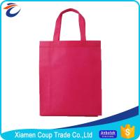 Buy cheap Non Woven Fabric Shopping Bags Beautiful Red Color With Simple Design from wholesalers