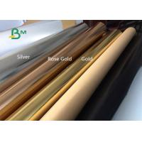 Buy cheap Surface Silver , Gold Rose , Gold Glitter Washable Kraft Paper Fabric For Gift from wholesalers