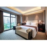 Buy cheap Acrylic Bedroom Hotel Furniture , Comfortable Wooden Simple Double Bed from wholesalers