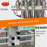 Buy cheap 4 Head imported motor water liquid stainless steel bottle filler for sale from wholesalers