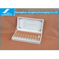 Buy cheap Ribbon Hinged Matt Essential oil Packaging Boxes Cardboard Gift Box from wholesalers