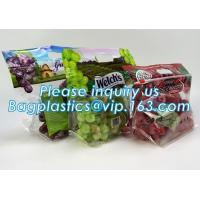 Buy cheap packing bag ziploc slider storage bags with white block, Perforated Standup Bags for Fresh Fruit with Cheap Price, zippe from wholesalers