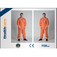 Buy cheap PP/SMS/MF Disposable Protective Coveralls Chemical Resistant With Hood And Elastic Cuff from wholesalers