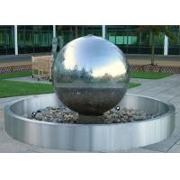 Buy cheap Stainless Steel Ball Water Feature / Stainless Steel Sphere Water Features For The Garden  from wholesalers