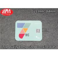 Buy cheap Container Aluminium Foil Lid Composited Laminated Paper Can OEM Printing from wholesalers