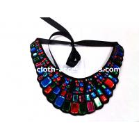 Buy cheap Rectangle And Round Beaded Neck Trim Felt Fabric For Navy Blue Shift Dress from wholesalers