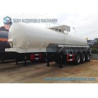 Buy cheap Transport Sulfuric Acid 30000L Chemical Tank Trailer 3 Axle With Cylinder Shaped from wholesalers