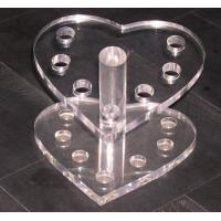 Buy cheap Heart Shape Acrylic Stationery Holder ,Acrylic Pen Display Stand product
