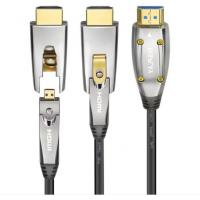 Buy cheap Black HDMI AOC Cable Fiber Optical Hdmi To Hdmi Cable 10m 20m 50m Extender Support 4K 3D 18Gbps from wholesalers