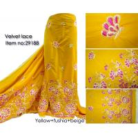 Buy cheap African velvet lace fabric swiss velvet lace african lace from wholesalers