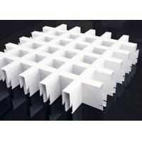 Buy cheap PE Powdercoated Metal Ceiling Tile Grid  100x100MM For Supermarket Decoration product