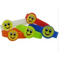 Buy cheap 2015 wholesale children smile face silicone bracelet band wristband with custom logo,OEM/ODM highly welcomed from wholesalers