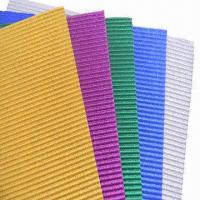Buy cheap Glitter Corrugated Papers for Gift Wrapping, DIY Activities and Children's Handcrafts from wholesalers