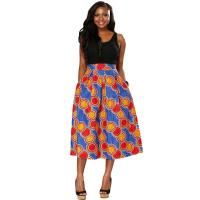 Buy cheap Customized Color Long African Print Skirts And Dresses Sash Belt Kitenge Design from wholesalers