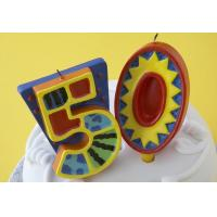 100% Handmade 50th Number Birthday Candles With Colorful Paintings No Virus