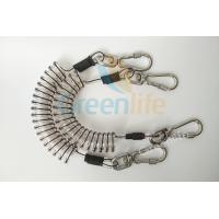 Buy cheap Core Reinforced Coil Tool Lanyard 1.5 Meters With Stainless Steel Clips product