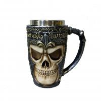 Buy cheap hot sale polyresin skull mug 350ml from wholesalers