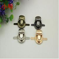 Buy cheap Gold lock metal bag buckle button zinc alloy push lock for bags from wholesalers