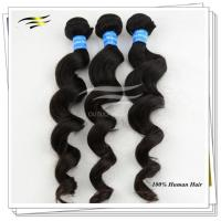 Buy cheap Natural Indian Remy Hair Extensions AAAA Black Loose Wave 28'' from wholesalers