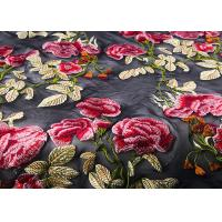 Buy cheap Colorful Embroidered Lace Fabrics , Multi Color Floral Blossom Lace Mesh Fabrics product